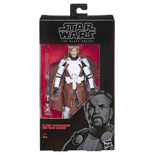 Star Wars The Black Series 6-Inch Clone Commander Obi-Wan Kenobi Exclusive Figure