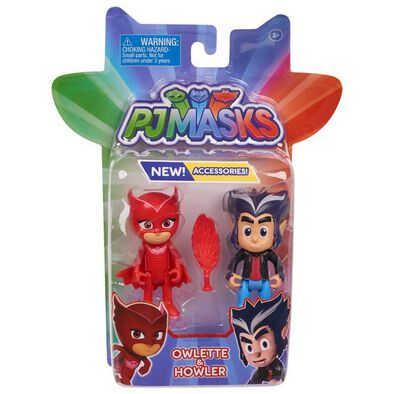 PJ Masks Hero & Villain 2 Pack Owlette & Howler