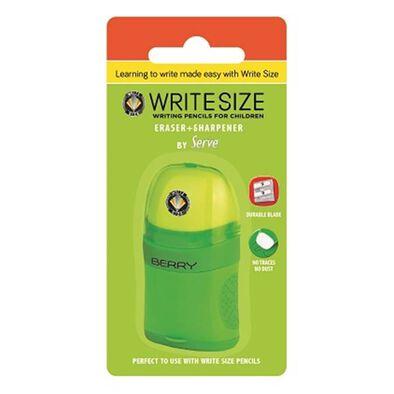 Write Size Eraser And Sharpener Set