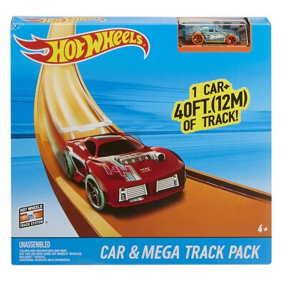 Hotwheels Track Builder Car & Mega Track Pack