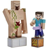 Minecraft Comic Maker Steve and Iron Golem 2 Pack