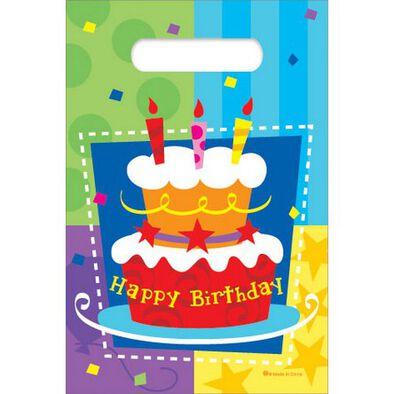 KORD Birthday Cake 6'X 9' Loot Bags, 6 Pcs