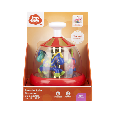 Top Tots Push 'n Spin Carousel