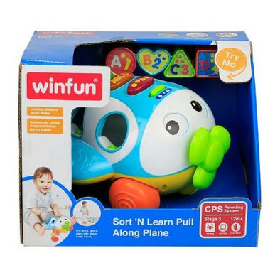 Winfun Sort'N Learn Pull Along Plane