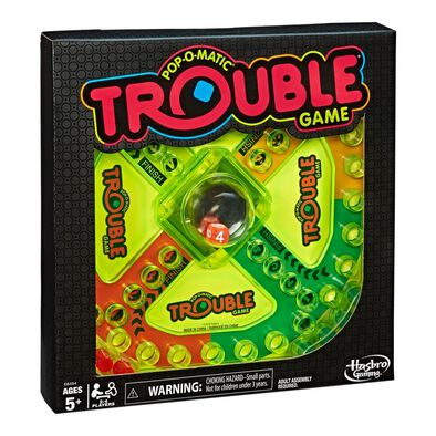 Pop-O-Matic Trouble Game Neon Pop