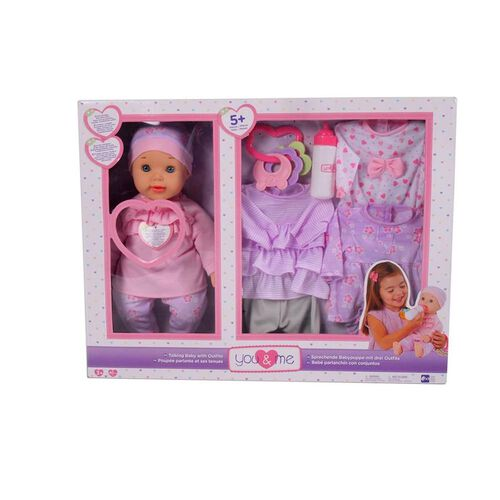 You & Me 16 Inch Talking Doll With 3 Outfits
