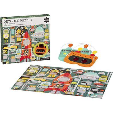 Petit Collage Robot Factory 100Pc Puzzle