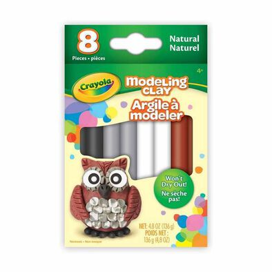 Crayola 8 Ct. Modeling Clay, Natural - Assorted