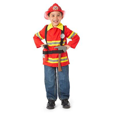 Universe of Imagination Deluxe Firefighter Dress Up Costume