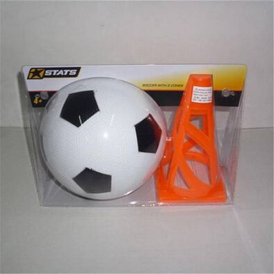 Stats Soccer With 2 Cones