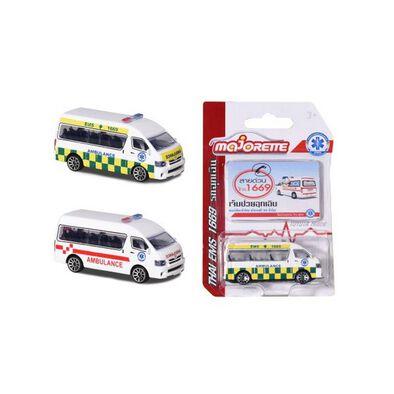 Majorette Thai Ambulance Van Toyota Hiace - Assorted