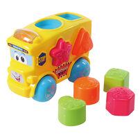 BRU Infant & Preschool 3 in 1 Action Triangle Fun Bus Shape Sorter Whirly Rainbow Ramp