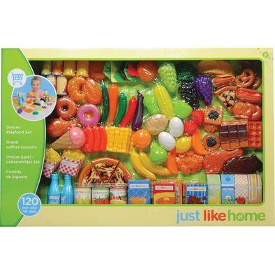 Just Like Home Play Food Set (120 Pcs)