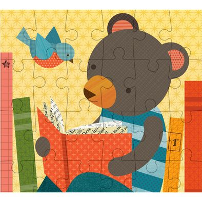 Petit Collage Petit Puzzle Reading Bear