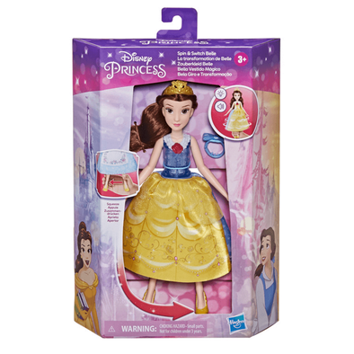 Disney Princess Spin and Switch Belle Doll