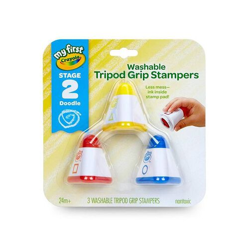 Crayola My First Crayola 3 Colours Washable Tripod Grip Stampers