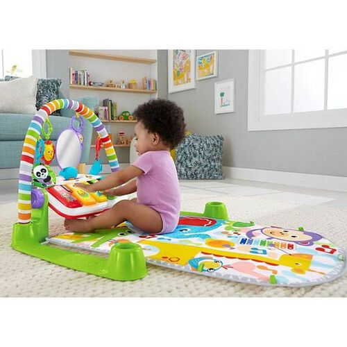 1-Month Baby Toy Shapes and Numbers Introduces Colors Sounds and Music Baby Piano Activity Center with Lights Fisher-Price