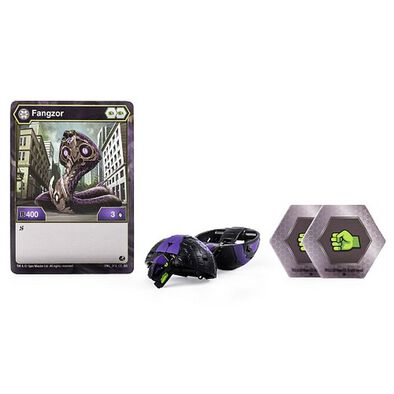 Bakugan Battle Planet Core Ball 4D Fangzor Black Free Gift