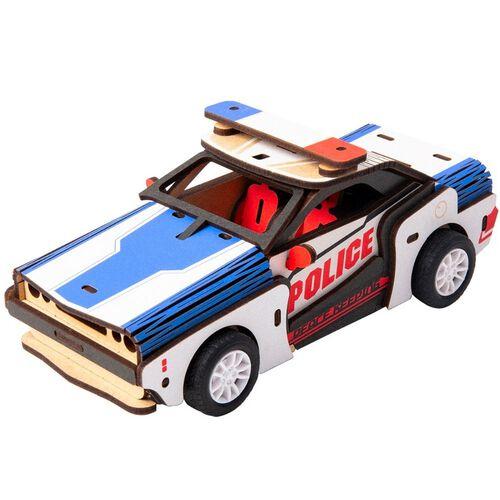 Robotime DIY Movable Police Car