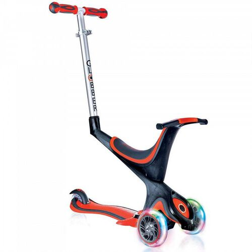 Globber Evo Comfort Lights Red Scooter