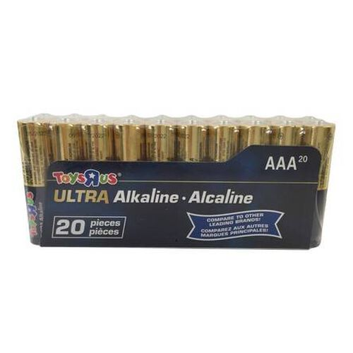 Toys R Us Ultra Alkaline AAA Battery 20 Pieces Pack