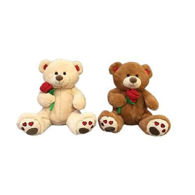 Animal Alley 15 Inch Bear With Rose - Assorted
