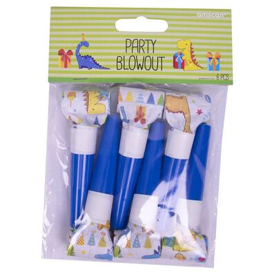 Party Blowouts 6 Pieces Dinosaurs