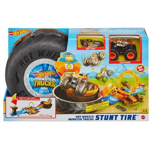 Hot Wheels Monster Trucks Stun Tire Playset