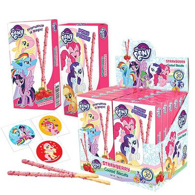 My Little Pony Biscuits Coated Stick
