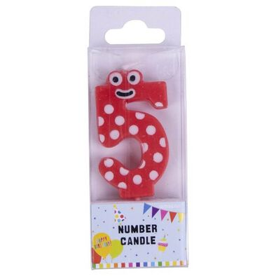 Figure Number 5 Candle