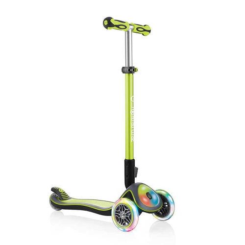 Globber Elite Lights Lime Green Scooter