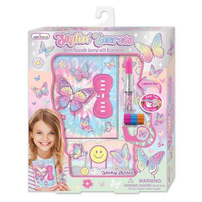 Hot Focus Tape Art Secret Passcode Journal Tie Dye Butterfly