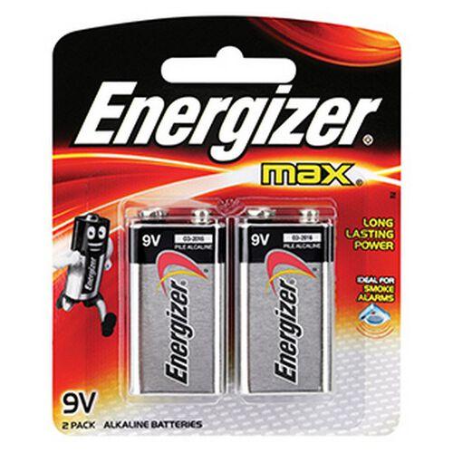 Energizer Max 9V 2 Pc