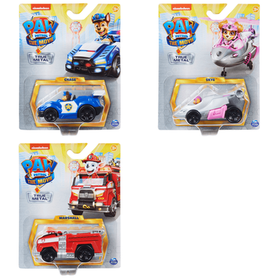 Paw Patrol The Movie Diecast Vehicles - Assorted