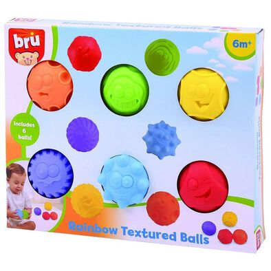 BRU Rainbow Textured Balls