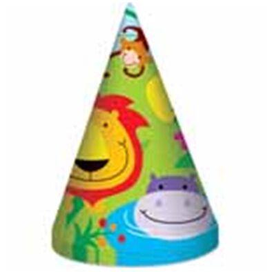 "Jungel Party Hats (6.5"")"
