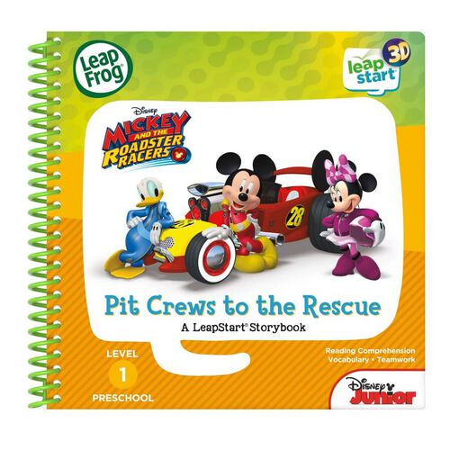 LeapFrog LeapStart Mickey And The Roadster Racers Book