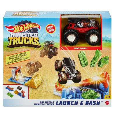 Hot Wheels Monster Trucks Launch & Bash Playset
