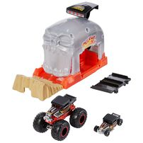 Hot Wheels Monster Trucks Pit And Launch - Assorted