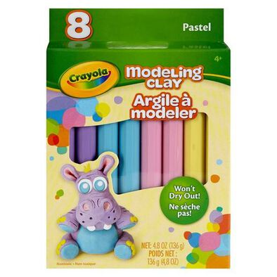 Crayola 8Ct. Modeling Clay, Pastel - Assorted