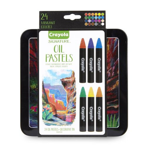 Crayola 24Ct Oil Pastels In Tin