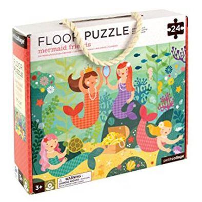 Petit Collage Floor Puzzle Mermaid Friends