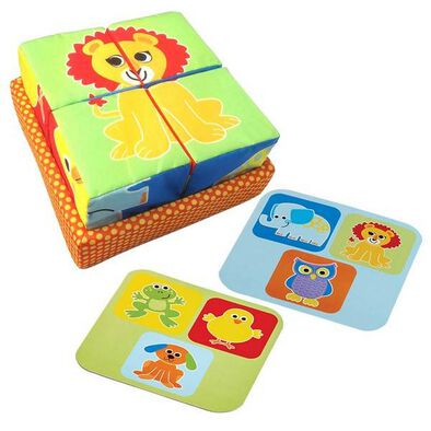 BRU Infant & Preschool Soft Block Animal Puzzle