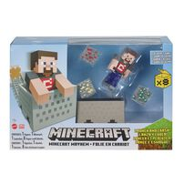 "Minecraft 3.25"" Minecart Mayhem Playset"