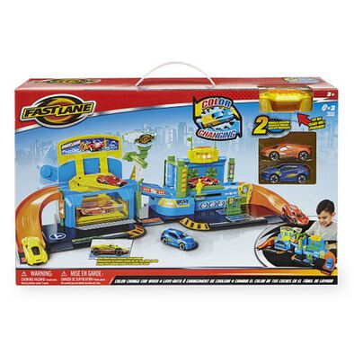 Fast Lane Color Change Car Wash Playset