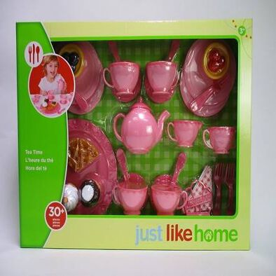 Just Like Home Pearlized Tea Set - Assorted