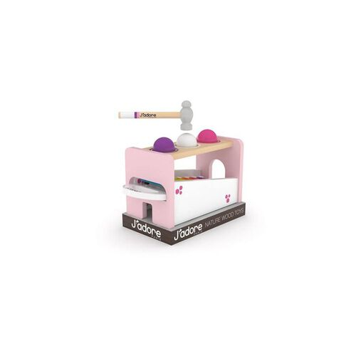 J'adore Pink Elephant Hammer Balls + Xylophone