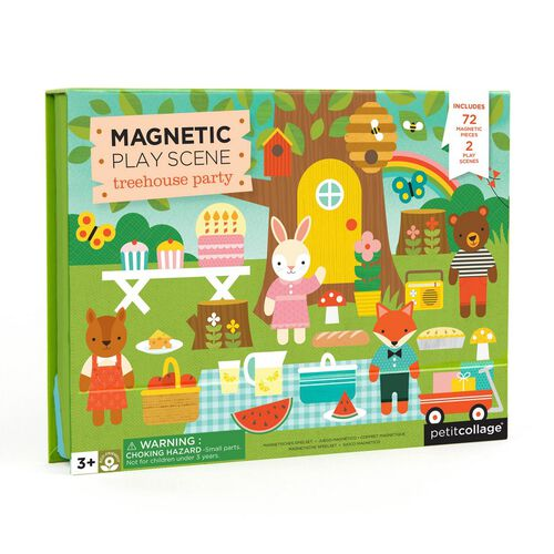 Petit Collage Mps Treehouse Party Magnetic Play Scene