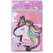 Invitation Card 6 Pieces Unicorn