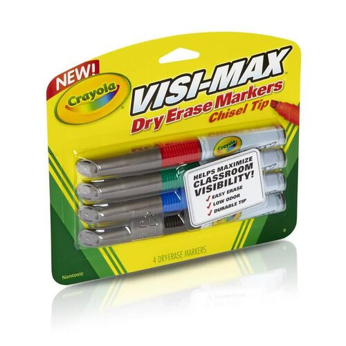 Crayola Washable Visi Max Dry Erase Broad Line Markers